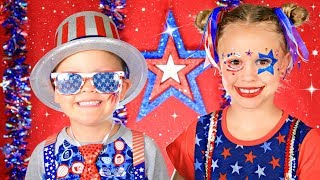 Fourth of July Makeup and Costumes!!!