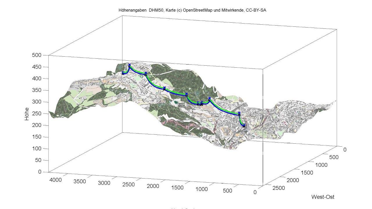 Wuppertal Stadtplan Karte In 3d Mit Verlauf Der Seilbahn Youtube