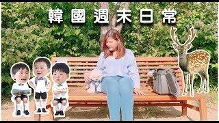 """[韓國 Vlog#55] 韓國週末日常吃港式點心、首爾林公園看梅花鹿、街上捕捉大韓民國萬歲""""三胞胎"""" l Cher is chercher"""