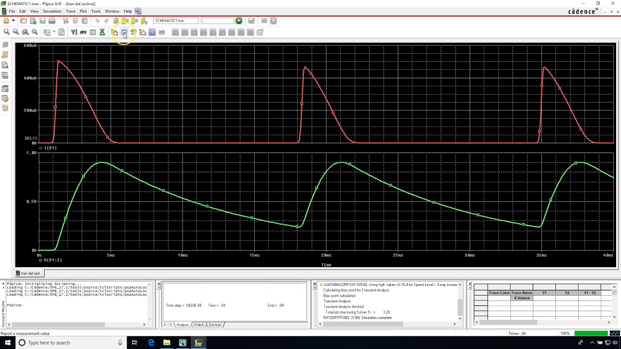 how can measure ripple voltage in pspice | Electronics Forum