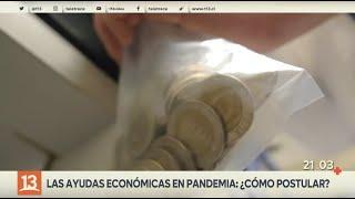 Ayudas económicas en pandemia: ¿Cómo postular?