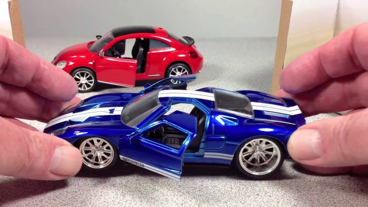 Jada Bigtime Muscle Vw Beetle And Ford Gt Cast