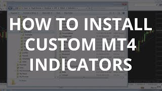 How to Install Custom Indicators on MT4 - Metatrader 4 Tutorial (2017)