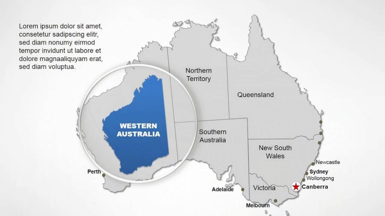 Map Of Australia Youtube.Australia Maps Australia Editable Powerpoint Maps