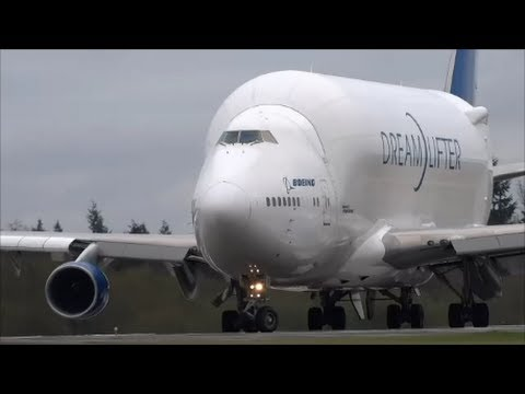3 Boeing Dreamlifter 747LCF TakeOffs in 6 Minutes!