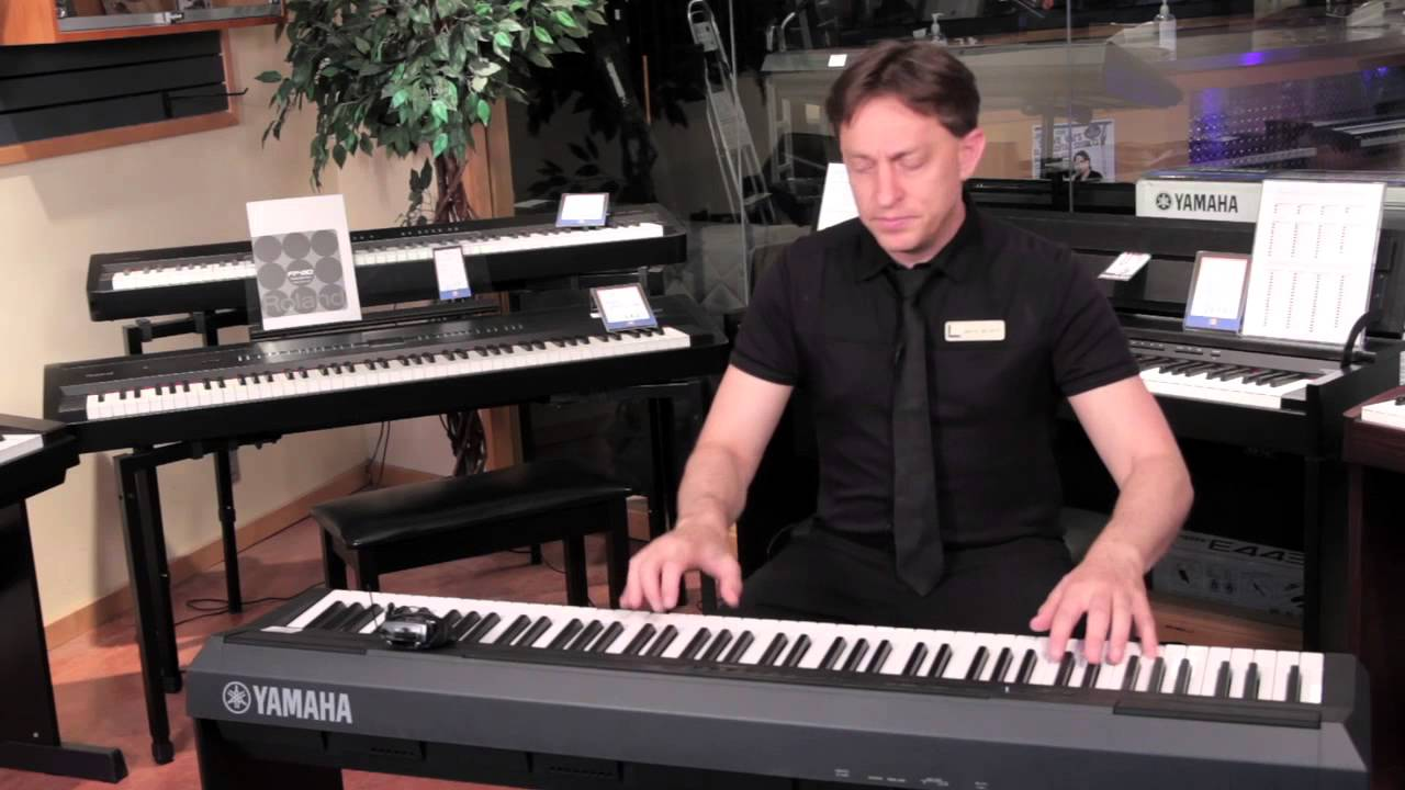 yamaha p 115 88 key digital piano product demonstration. Black Bedroom Furniture Sets. Home Design Ideas