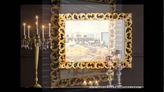 Decorative Large Wall Mirror - Gold Leaving - Dorvall