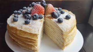Нежный БЛИННЫЙ ТОРТ🌸быстро и вкусно🌸 Crepe cake recipe