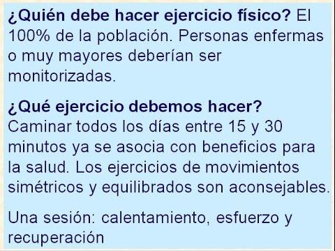 Práctica de ejercicio físico. T.57