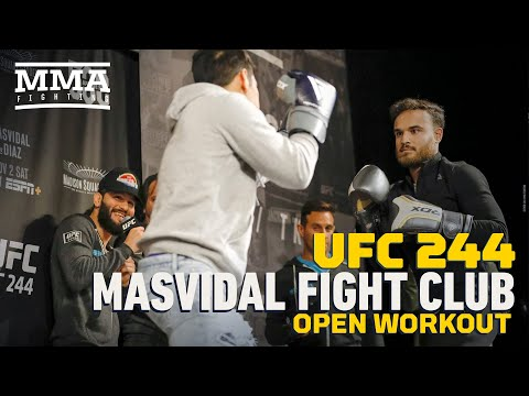 Fans Trade 'Body Blows' During Jorge Masvidal Workout Session - MMA Fighting