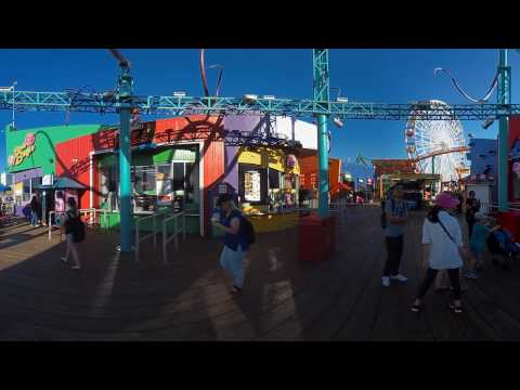 Z CAM S1 Santa Monica footage auto stitched injected