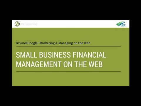 Small Business Financial Management on the Web