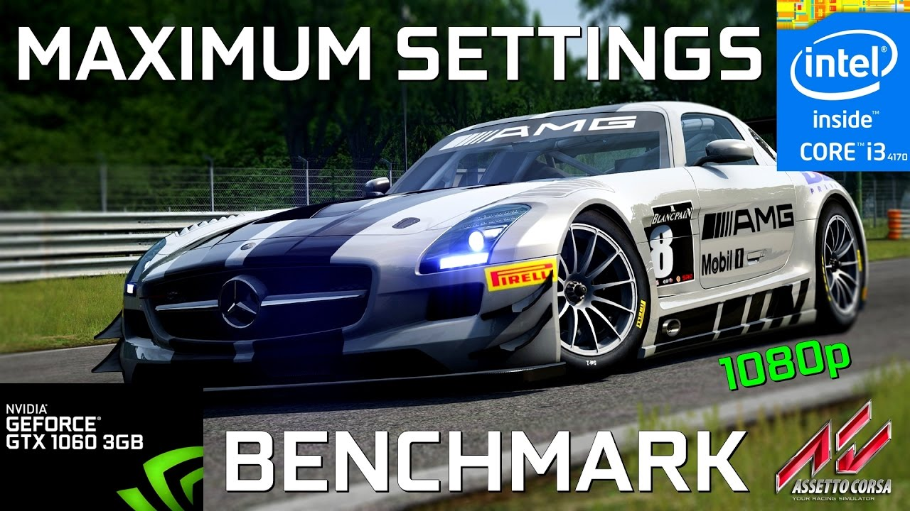 Assetto Corsa I3 4170 Gainward Gtx 1060 3gb 1080p Benchmark