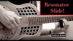 Resonator guitar slide blues in open G tuning