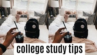 college study tips + tricks!  | how to study in college