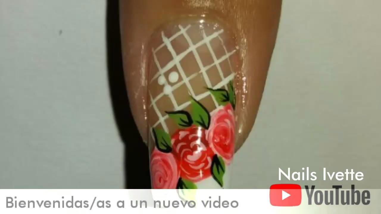 Uñas Decoradas Con Rosas3 Formas De Hacerlas Youtube