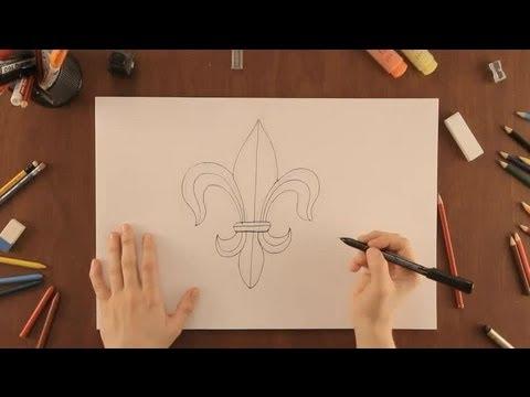 Cmo dibujar una flor de lis  Dibujos de la Naturaleza  YouTube