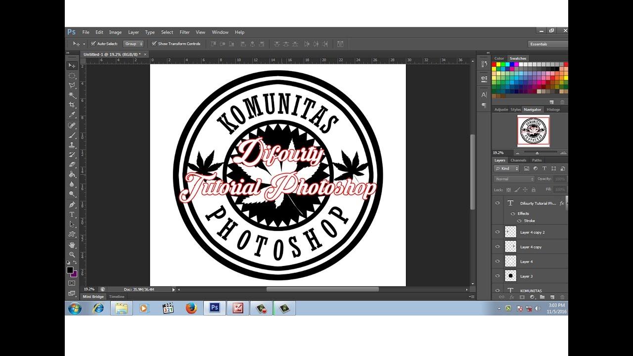 Cara Desain Logo Komunitas Keren Dengan Photoshop Youtube