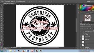 cara desain logo komunitas keren dengan photoshop