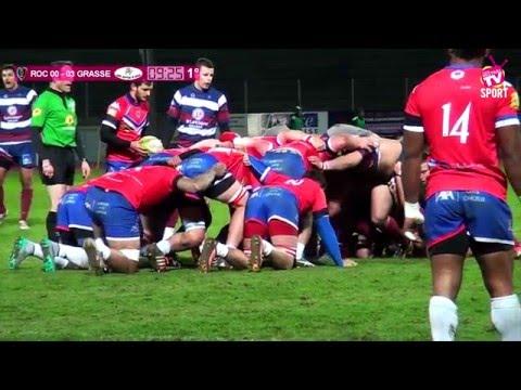 Rugby Fédérale 1 ROC vs GRASSE 16 01 2016