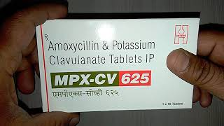 MPX-CV 625 Tablets Uses,Composition,Benefits,Side Effects,Precautions & review in Hindi
