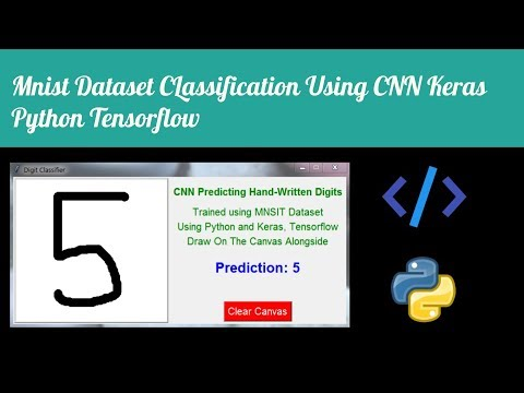 Python Keras MNIST Classification Using CNN With GUI And