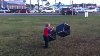 Box kite trial run