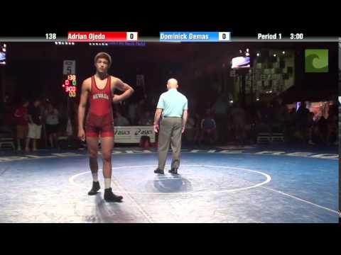 138 lbs. 5th - Adrian Ojeda (NV) vs. Dominick Demas (OH)