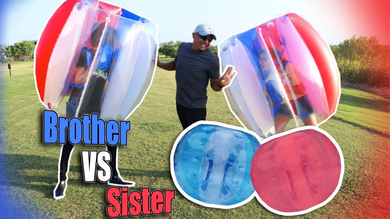 CRAZY BUMP AND FALL CHALLENGE * BROTHER VS SISTER FOR THE WIN!!!