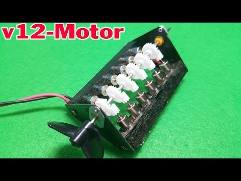 How to make Powerful Mini V12 Coreless Motor