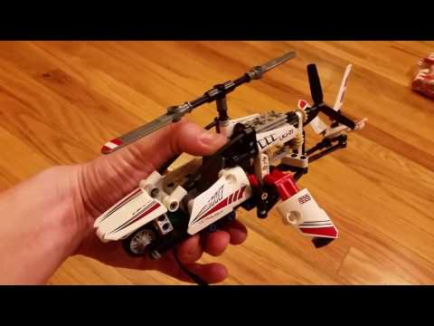 Lego Technic Ultralight Helicopter 42057 With Motor Youtube