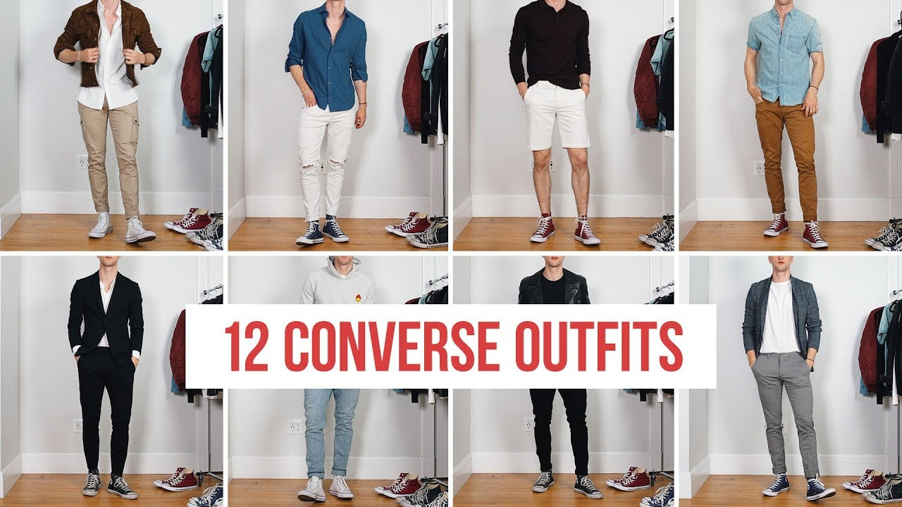 12 Ways to Style Converse Sneakers | Men's Fashion | Outfit Ideas 2
