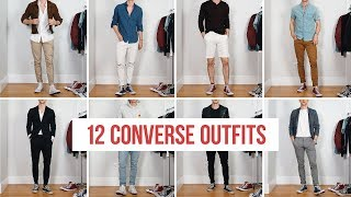 12 Ways To Style Converse Sneakers   Men's Fashion   Outfit Ideas