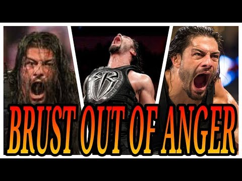When Roman Reigns bursts out of anger & Attack  All wrestlers and WWE Legends without mercy !!!!