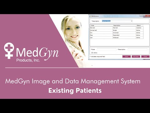 MedGyn Image and Data Management System - Existing Patients