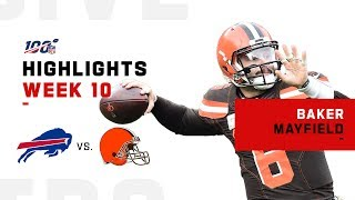 Baker Mayfield Highlights vs. Bills | NFL 2019