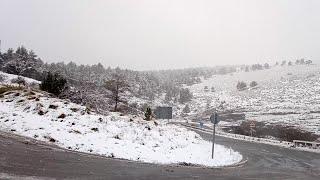 Nieve en el Puerto de Orduña (Bizkaia)