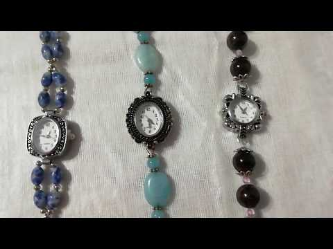 Часы-браслеты с натуральными камнями.Jewellery Made Of Natural Stones.
