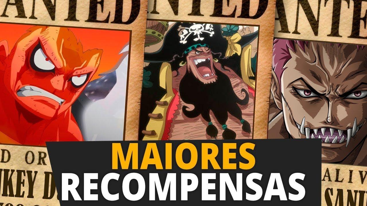 AS 10 RECOMPENSAS MAIS ALTAS DE ONE PIECE | Player Solo