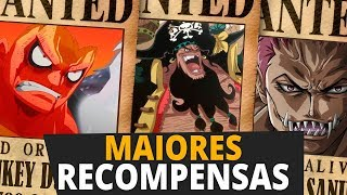 AS 10 RECOMPENSAS MAIS ALTAS DE ONE PIECE | Player Solo