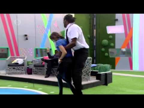 Audley Harrison PUSHES GIRL into The Pool