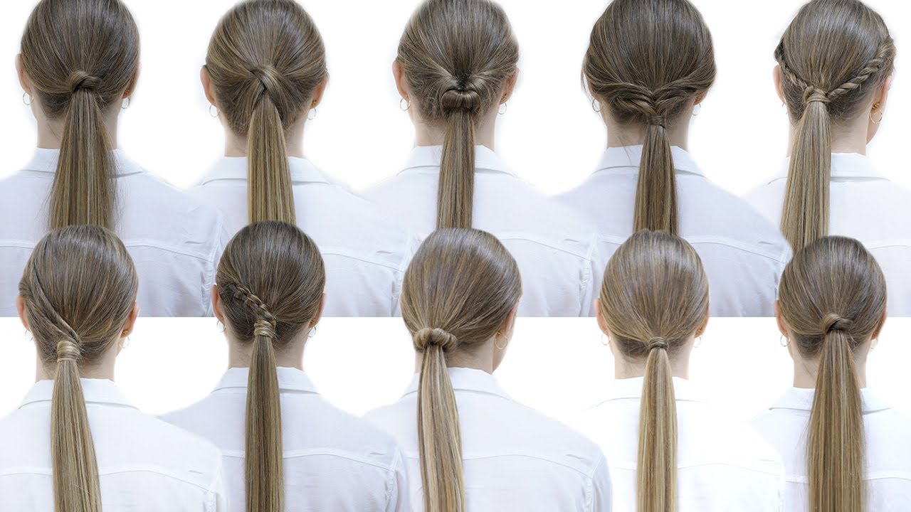 10 easy hairstyles with ponytails for school | Patry Jordan