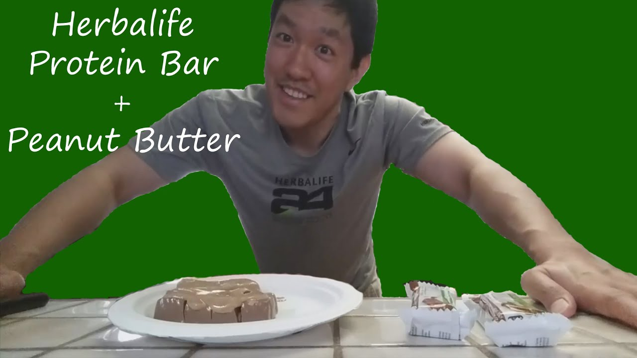 Herbalife Protein Bar + Peanut Butter - YouTube