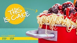 How To Make Spaghetti & Meatballs out of CAKE | Step By Step | How To Cake It | Yolanda Gampp