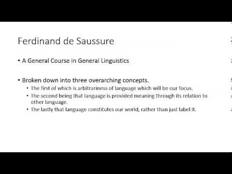 The Nature of Language According to Saussure by Mercedes and Garrett