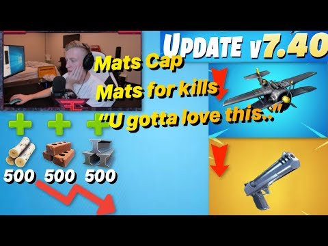 Tfue Reacts To *NEW* GAME CHANGING Update 7.40 / Fortnite Material Cap / NEW Turbo Build