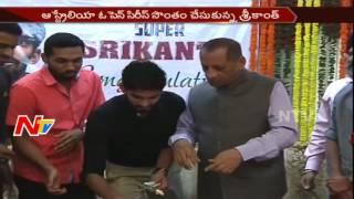 Governor Narasimhan Felicitates Kidambi Srikanth || Australian Open Super Series Winner || NTV