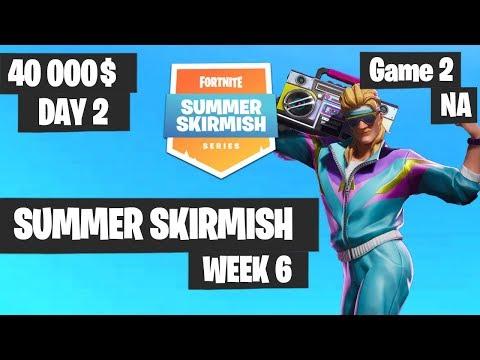 Fortnite Summer Skirmish Week 6 Day 2 Game 2 NA Highlights