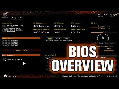 Gigabyte Z390 AORUS Ultra BIOS Overview