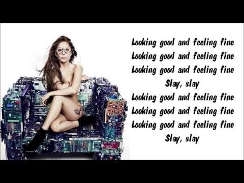 Lady Gaga - Fashion! Karaoke / Instrumental with lyrics on screen